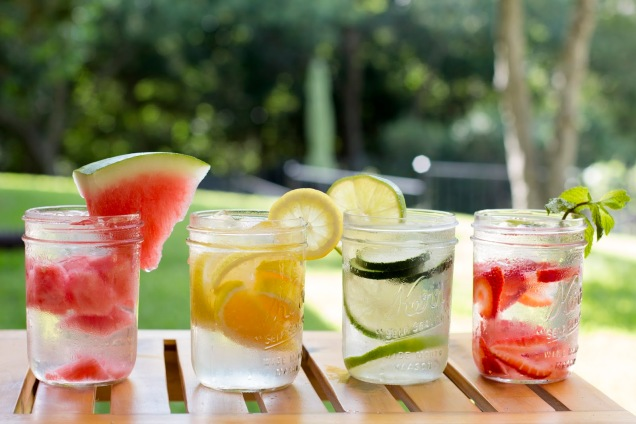 Fusing water with fruit makes eight glasses so much easier!