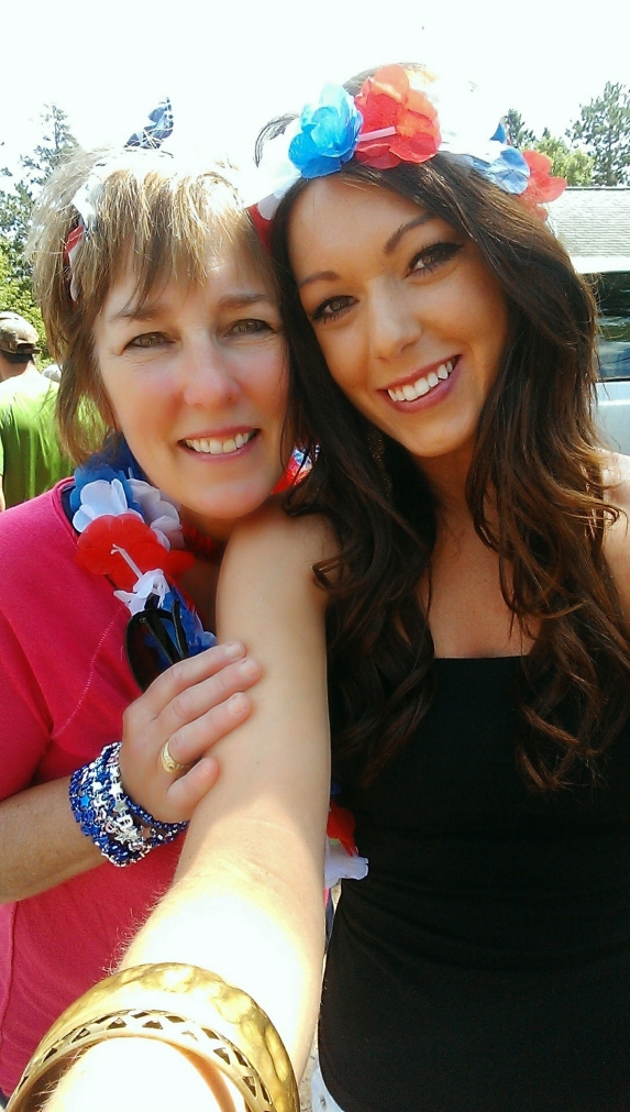 I wore one on the 4th of July with my lovely mother!