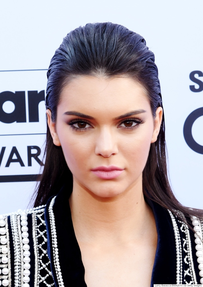 LAS VEGAS, NV - MAY 17:  Model Kendall Jenner, wearing Balmain x H&M, attends the 2015 Billboard Music Awards at MGM Grand Garden Arena on May 17, 2015 in Las Vegas, Nevada.  (Photo by Larry Busacca/BMA2015/Getty Images for dcp)