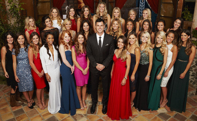 """THE BACHELOR - Ben Higgins, the handsome software salesman who was sent home by Kaitlyn Bristowe last season on """"The Bachelorette,"""" confessed to Kaitlyn that he thought he was """"unlovable."""" Even so, he saw a """"great life"""" with her, only to have his hopes dashed and his heart broken when he was left without a rose. Now, Ben is ready to open himself up again to love, but he still has the lingering fear of being unlovable. He will attempt to put his heartbreak behind him and overcome that fear as he searches for his one true love and, maybe more importantly, a woman who loves him back. (ABC/Craig Sjodin) BACK ROW: AMANDA K, JACQUELINE, LAUREN R., TIARA, OLIVIA, LAUREN H., LAUREN B.; MIDDLE ROW: SAMANTHA, LACE, LEAH, ISABEL, BECCA, AMBER, JESSICA, RACHEL, JENNIFER; FRONT ROW: MEGAN, CAILA, JOELLE, JUBILEE, LAURA, LAUREN BARR, BEN HIGGINS, SHUSHIK, AMANDA S., EMILY, HALEY, JAMI, BREANNE"""